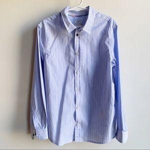 Paul Smith Boys Blue Striped Button Up Shirt